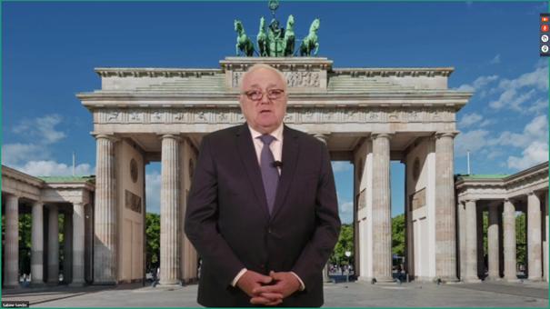 Digitales Grußwort des DStV-Präsidenten WP/StB Harald Elster// Bildnachweis: StBV Berlin-Brandenburg e.V.